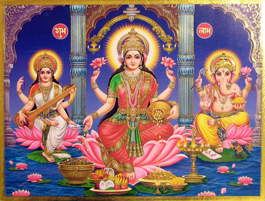 Calendar Art Of Hindu Gods : Lakshmi angelicmoonfairy