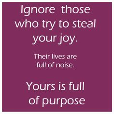 steal your joy