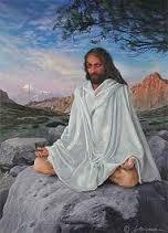 meditating christ