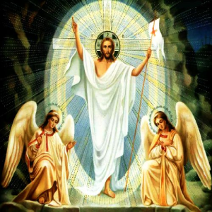 christ and angels